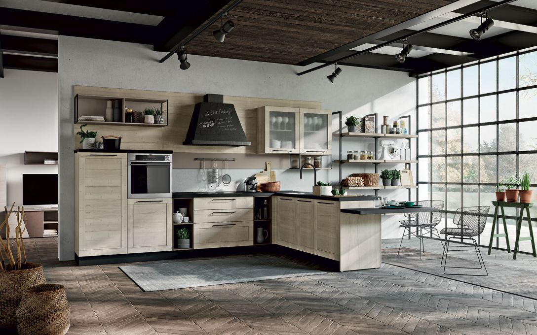 Cucina CHICAGO in rovere